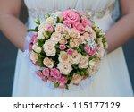 bouquet of pink roses | Shutterstock . vector #115177129