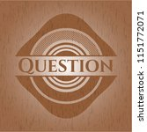 question badge with wood... | Shutterstock .eps vector #1151772071