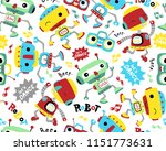 seamless pattern vector with... | Shutterstock .eps vector #1151773631