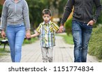 mother  father and son holding...   Shutterstock . vector #1151774834