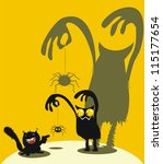 cute monster  spider and... | Shutterstock .eps vector #115177654