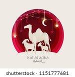 eid al adha mubarak the... | Shutterstock .eps vector #1151777681