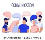 communication of business... | Shutterstock .eps vector #1151779931