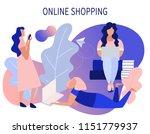 online shopping. freelance.... | Shutterstock .eps vector #1151779937