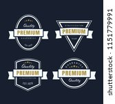 set vintage badge retro premium ... | Shutterstock .eps vector #1151779991