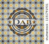 dab arabesque badge. arabic... | Shutterstock .eps vector #1151791931