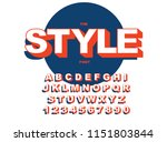 vector of modern bold font and... | Shutterstock .eps vector #1151803844