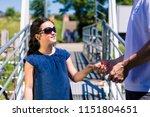 little girl with sunglasses...   Shutterstock . vector #1151804651