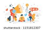 follow concept. post content in ... | Shutterstock .eps vector #1151812307