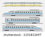 set of high speed train vector... | Shutterstock .eps vector #1151812697