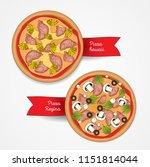 pizzeria menu concept. vector... | Shutterstock .eps vector #1151814044