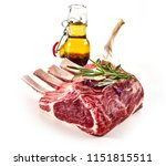 uncooked rack of lamb with a...   Shutterstock . vector #1151815511