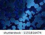 3d illustration abstract dark... | Shutterstock . vector #1151816474