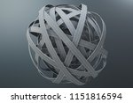 sphere of tangled roads  on... | Shutterstock . vector #1151816594