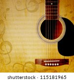 musical square background with... | Shutterstock . vector #115181965