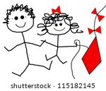 children   kite | Shutterstock . vector #115182145