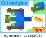 cargo truck paper model. small... | Shutterstock .eps vector #1151824754