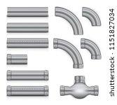 realistic steampunk copper...   Shutterstock .eps vector #1151827034