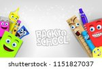 back to school template with... | Shutterstock .eps vector #1151827037
