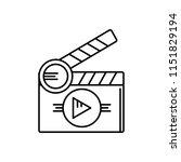 vector icon for  short films | Shutterstock .eps vector #1151829194