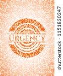 urgency orange mosaic emblem... | Shutterstock .eps vector #1151830247