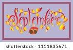 september lettering typography. ... | Shutterstock .eps vector #1151835671