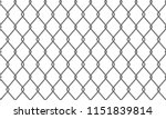 chain link fence pattern... | Shutterstock .eps vector #1151839814