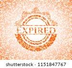 expired orange mosaic emblem   Shutterstock .eps vector #1151847767