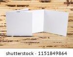mockup of white booklet on...   Shutterstock . vector #1151849864