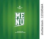 sports bar menu card design... | Shutterstock .eps vector #115185664