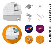 observatory with radio... | Shutterstock .eps vector #1151858801