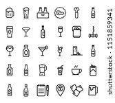 drink icons set. | Shutterstock .eps vector #1151859341