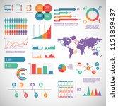 big set of infographics... | Shutterstock .eps vector #1151859437