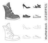 a set of icons on a variety of... | Shutterstock .eps vector #1151859521
