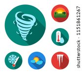 different weather flat icons in ...   Shutterstock .eps vector #1151861267