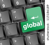 global button on the keyboard   ... | Shutterstock .eps vector #115186189