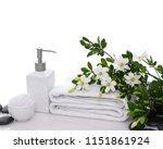set of branch gardenia  towel   ... | Shutterstock . vector #1151861924