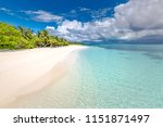 exotic tropical beach banner as ... | Shutterstock . vector #1151871497