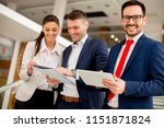 portrait of young business... | Shutterstock . vector #1151871824