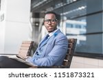 black man businessman in a... | Shutterstock . vector #1151873321