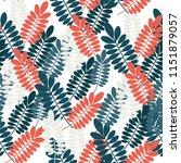 autumn vector pattern. hand...   Shutterstock .eps vector #1151879057