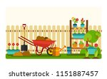 set tools of gardener . concept ... | Shutterstock .eps vector #1151887457