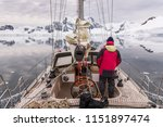 sailing around the antarctic... | Shutterstock . vector #1151897474