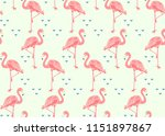seamless pattern with flamingo. | Shutterstock .eps vector #1151897867