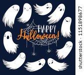 flying spirit of spirit  happy... | Shutterstock .eps vector #1151898677