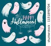 flying spirit of spirit  happy... | Shutterstock .eps vector #1151898704