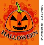 cartoon pumpkins for halloween... | Shutterstock . vector #115189897