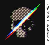 human skull in distorted glitch ... | Shutterstock .eps vector #1151902574