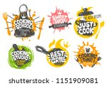 sketch style cooking lettering... | Shutterstock .eps vector #1151909081