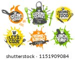 sketch style cooking lettering... | Shutterstock .eps vector #1151909084